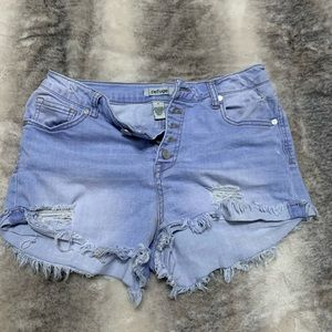 Jean cut off high waisted shorts